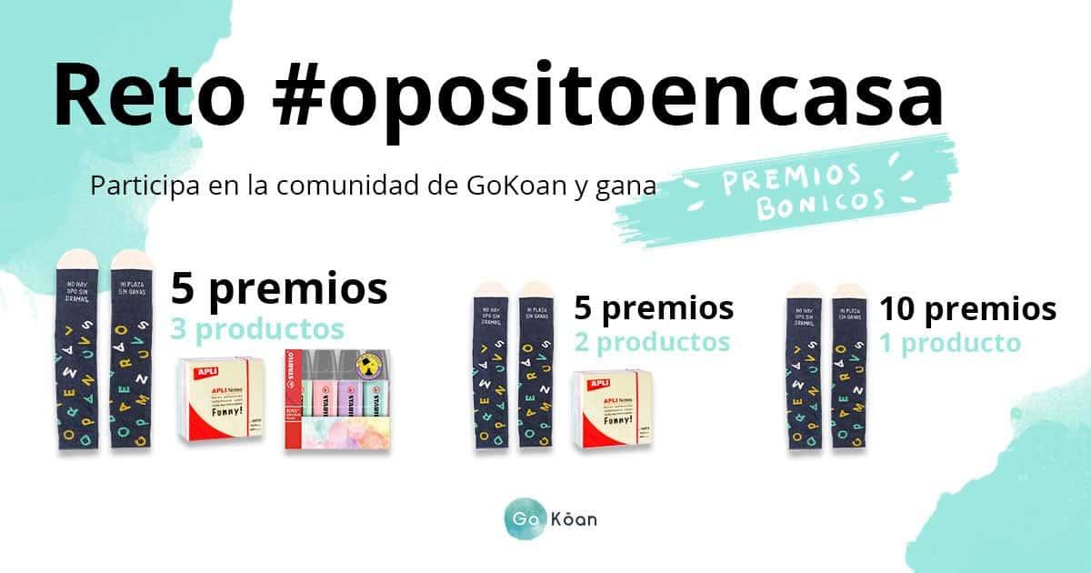 Reto #opositoencasa en la Comunidad de GoKoan