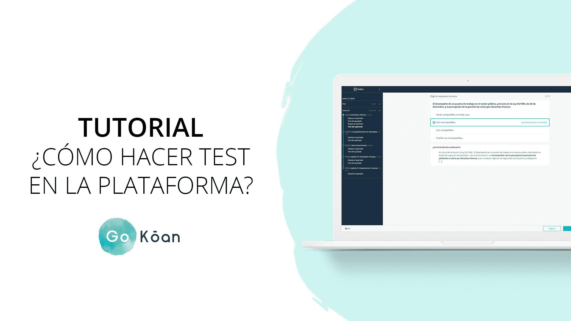 Cómo hacer test a través de la plataforma de GoKoan