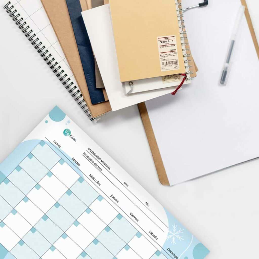 Descarga el planificador mensual de oposiciones eterno de GoKoan y utiliza tu calendario eterno para que no se te olvide estudiar ni repasar ningún tema.